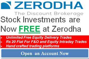 Zerodha 0% brokerage